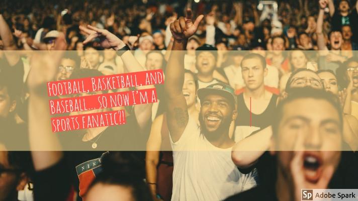 Football, Basketball, and Baseball… So now I'm a sportsfanatic